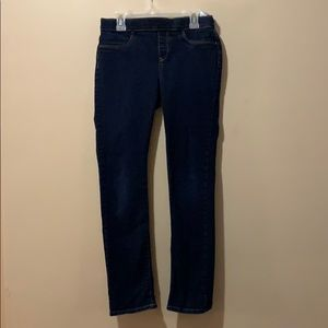 Girls size 14 by old navy dark blue skinny jeans